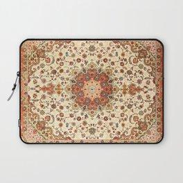 N71 - Orange Antique Heritage Traditional Moroccan Style Mandala Artwork Laptop Sleeve