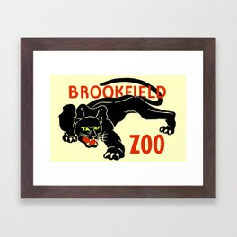 Black panther Brookfield Zoo ad Framed Art Print