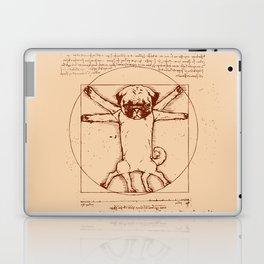 Vitruvian pug Laptop & iPad Skin