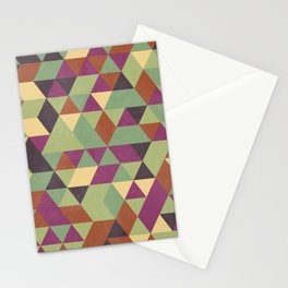 TRIANGLES geometric print Stationery Cards