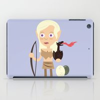 mother of dragons iPad Cases featuring Elven Mother of Dragons by Haragos