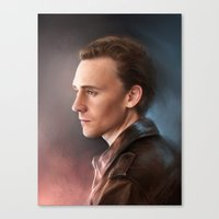 tom hiddleston Canvas Prints featuring Tom Hiddleston by EternaLegend