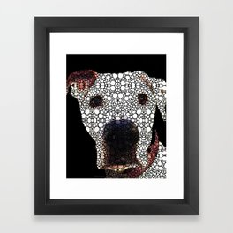 Stone Rock'd Dog 2 by Sharon Cummings Framed Art Print