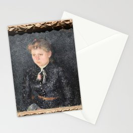Camille Pissarro - Portrait of Eugenie Estruc, called Nini Stationery Cards