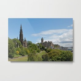 colourful edinburgh Metal Print