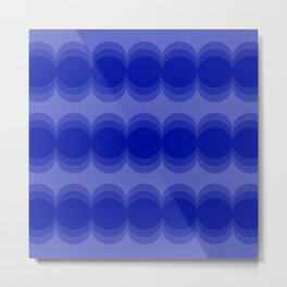 Four Shades of Blue Circles Metal Print