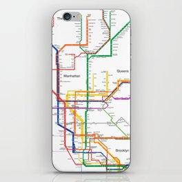 New York City subway map iPhone Skin