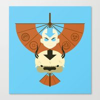appa Canvas Prints featuring Yip Yip by Ashley Hay