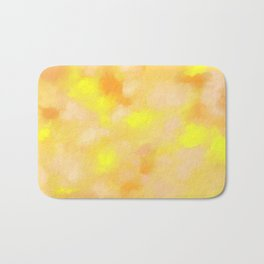 Yellow Liquid Gold Marble Abstract Bath Mat