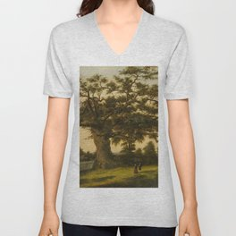 The Charter Oak - Connecticut by Charles De Wolf Brownell Unisex V-Neck