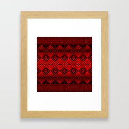 The Lodge (Red) Framed Art Print