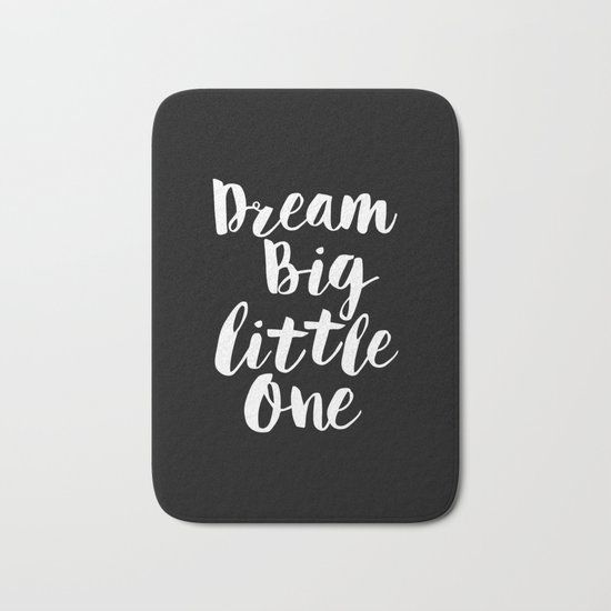 Dream Big Little One black-white typography poster black-white childrens room nursery home decor by themotivatedtype