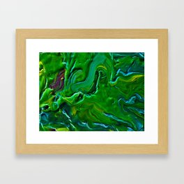Green Pour Framed Art Print