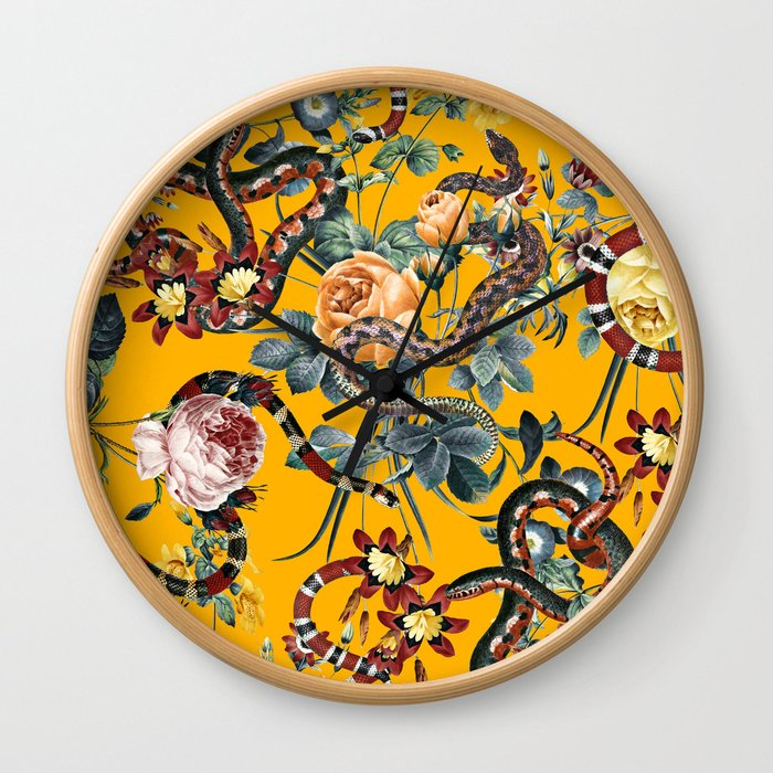 Dangers in the Forest III Wall Clock