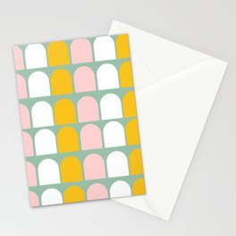 Pink, Orange and White Ice-Lollies on Teal Stationery Cards
