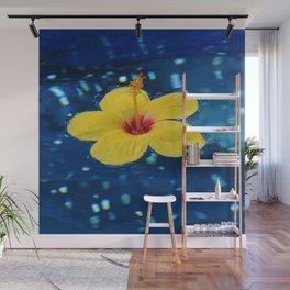 Yellow Hibiscus Wall Mural