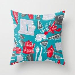 Vintage 1950's Kitchenalia Throw Pillow