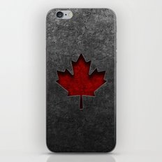 Canadian Flag Stone Texture iPhone & iPod Skin