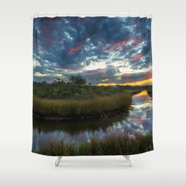 Mississippi Coastal Sunrise Shower Curtain