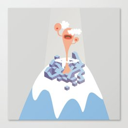 montain mouth Canvas Print