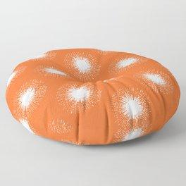 Solar Flare / Orange Sun Pattern Floor Pillow