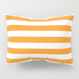 Sacral Orange and White Stripes Pillow Sham
