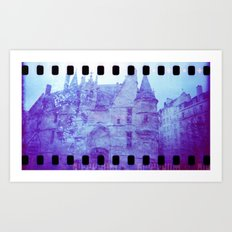 Chateau & Flowers Art Print