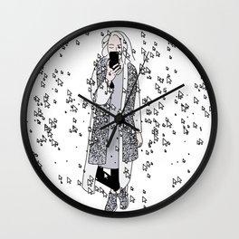 kaa on white Wall Clock