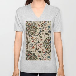 "William Morris ""Kelmscott Tree"" 1. Unisex V-Neck"