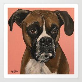 Boxer Art, Cute Boxer Art Art Print