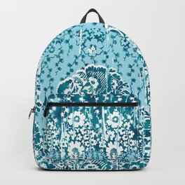 floral paisley in teal Backpack
