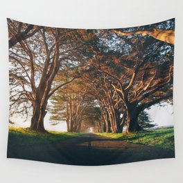 Sunrise at the Tree Tunnel - Point Reyes, California Wall Tapestry