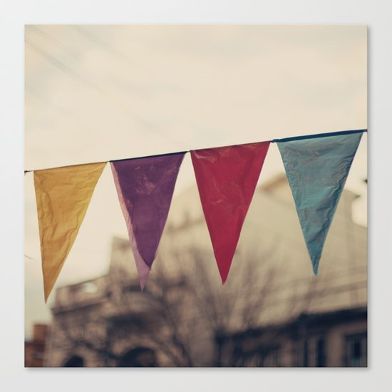 Flags (Vintage and retro photopgraphy) Canvas Print