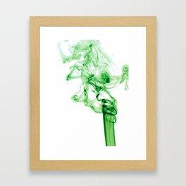 Green Smoke Framed Art Print