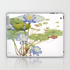 Blue Water Lily Botanical Laptop & iPad Skin
