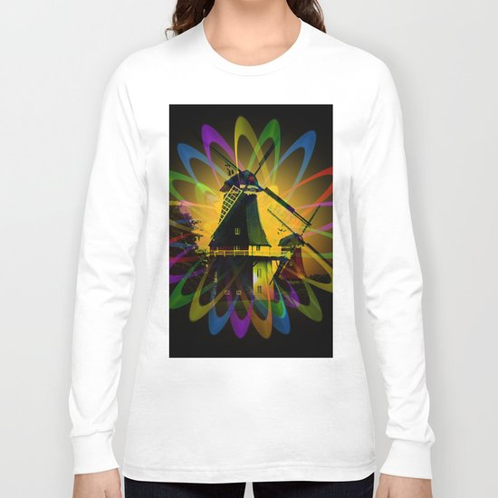 Windmills - Greetsiel Long Sleeve T-shirt