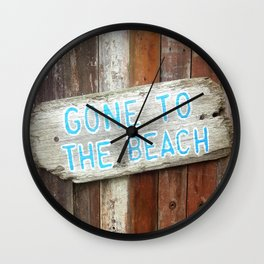 Gone To The Beach 2 Wall Clock