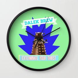 Doctor Who: Dalek Brew Vintage Beer Ad Wall Clock