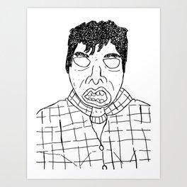 Douche Face Art Print