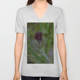 Floral Print 070 Unisex V-Neck