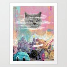 Gatto Misterioso Art Print