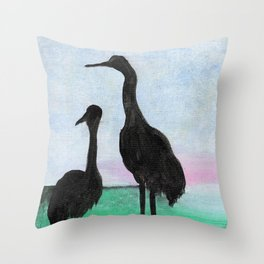 Herons on the Bay Throw Pillow