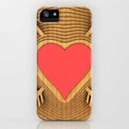Illustration of a symbolic coat of arms of love. iPhone Case