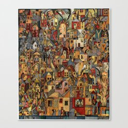 Lost In A Ghost Town Canvas Print