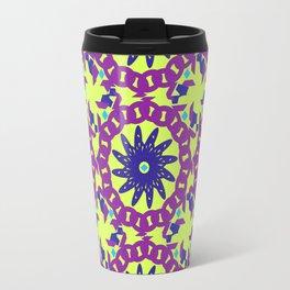 Chained Link Purple Spiral Flowers Travel Mug