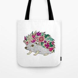 Woodland Hedgehog Illustration Tote Bag