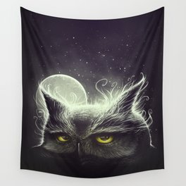 Owl & The Moon Wall Tapestry