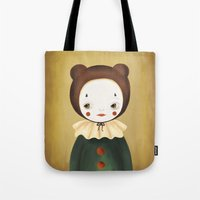 lucy Tote Bags featuring Lucy by The Midnight Rabbit