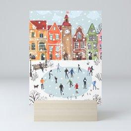 winter town Mini Art Print