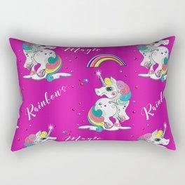 Pink Unicorn Magic Rectangular Pillow